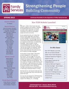 TCFS Spring 2015 Newsletter cover