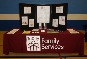 TriCity Family Services Display Table