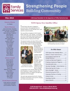 TCFS Fall 2015 Newsletter cover